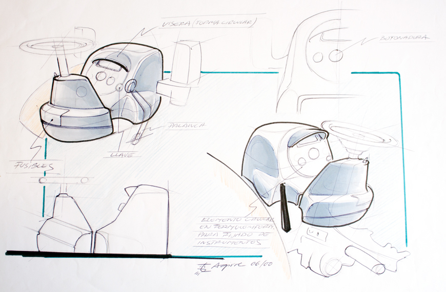 Estudio y boceto del concepto para rotomoldeo