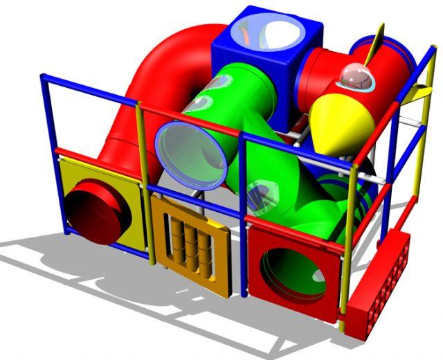 Diseño de parque infantil por rotomoldeo