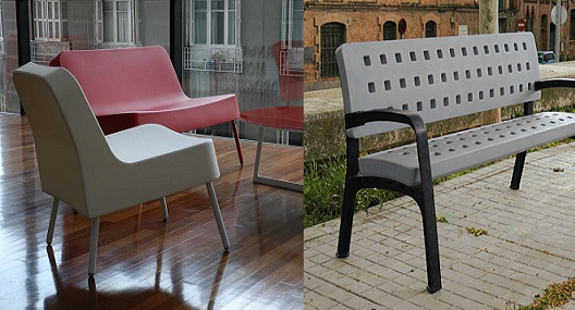 Bancos de diseño y mobiliario urbano por rotomoldeo