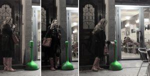 El rotomoldeo en la hostelería, Mr.Smoke cenicero plástico mujer bar Rotobasque