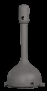 MR. SMOKE, ceniceros de plástico en rotomoldeo, gris rotobasque