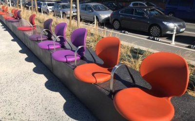 Rotobasque fabrica las sillas del nuevo paseo de Zorrozaurre en Bilbao